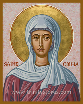 Apr 19 - St. Emma - icon by Joan Cole. Happy Feast Day St. Emma
