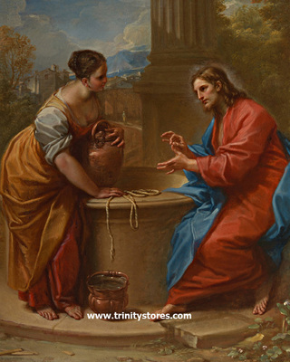 Apr 23 - Christ and Woman of Samaria - by Museum Religious Art Classics.