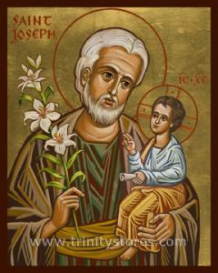 Mar 19 - St. Joseph and Child Jesus - icon by Joan Cole. Happy Feast Day St. Joseph