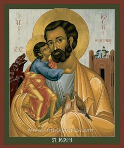 Mar 19 - St. Joseph of Nazareth - icon by Br. Robert Lentz, OFM. Happy Feast Day St. Joseph