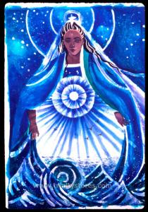 Mar 21 - Mary, Star of the Sea - artwork by Br. Mickey McGrath, OSFS.