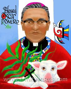 Mar 24 - Oscar Romero - artwork by Br. Mickey McGrath, OSFS. Happy Feast Day Oscar