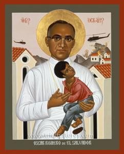 Mar 24 - Oscar Romero - icon by Br. Robert Lentz, OFM. Happy Feast Day Oscar